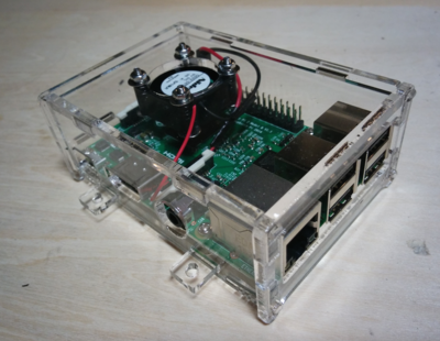 Small raspberry pi cese fan appearance