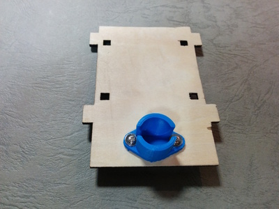 Small 20160501 sumobot ball caster blue